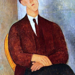 """Art MegaMart - Amedeo Modigliani Portrait of Morgan Russell - 18"""" x 27"""" Premium Canvas Print - 18"""" x 27"""" Amedeo Modigliani Portrait of Morgan Russell premium canvas print reproduced to meet museum quality standards. Our museum quality canvas prints are produced using high-precision print technology for a more accurate reproduction printed on high quality canvas with fade-resistant, archival inks. Our progressive business model allows us to offer works of art to you at the best wholesale pricing, significantly less than art gallery prices, affordable to all. We present a comprehensive collection of exceptional canvas art reproductions by Amedeo Modigliani."""