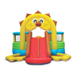 Kidwise - Kidwise Lions Den Bounce House - SSD-LION-04R - Shop for Tents and Playhouses from Hayneedle.com! The Kidwise Lions Den Bounce House provides hours of entertainment for little ones. Great for backyards and birthday parties this inflatable bounce house is made from heavy duty vinyl and has a fun lion theme complete with two separate play areas in the lion's paws that can also double as ball pits. A large 7 x 14-foot bounce area allows multiple children to bounce at once and features a roof for sunny days and a cushioned entrance in the rear makes for easy access. A huge double slide on the front stands almost five feet tall and is accessed by an inflated rock wall. This bounce house comes complete with blower with GFCI breaker ground stakes carrying bag and instructions. If you wish to use the paw areas as ball pits you must purchase balls separately.A lead-free product: a note from KidwiseRecent concerns regarding inflatable bounce products with illegal lead concentrations have lead to allegations against producers and distributors of these products by the state of California. Naturally this serious matter is of concern to us and to our customers. Kidwise products are not included in these allegations. Our materials are tested at intervals throughout the year and after production runs. We have always tested for lead content in materials to verify our products are safe for kids. We also use 3P fabric which protects kids from the three main phthalates banned by the recent CPSCIA act. Rest assured - Kidwise products are tested and safe!About Kidwise ProductsThis item is made by Kidwise Outdoors a company whose focus is safe fun excitement for kids. Kidwise strives to promote safe play for kids of all ages through outside activities. Their line of products includes swingsets trampolines inflatable bouncers bikes sport goals and many other items to choose from. Kidwise guarantees all of their products against defects. Like Hayneedle Kidwise's goal is 100% satis
