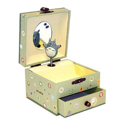 Totoro Music Box - You won't be able to resist singing the Totoro theme song with this music box. Open it up to musical accompaniment and place your treasured items inside. With Totoro's sweet spirit watching over your jewels, you'll feel happier knowing your jewelery is in a safe spot.
