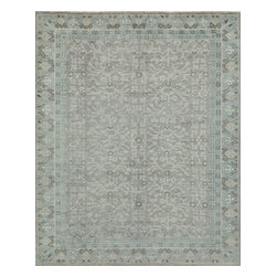 """Momeni Rug - Momeni Rug Patina 3'9"""" x 5'9"""" PT-02 Sky PATINPT-02SKY3959 - Woven in the classic Oushak style from only the finest wools, the Patina Collection bring antique charm to floor coverings. Subtle distressing and a lovely soft color palette lends an authentic, though updated look to these rugs. The Patina Collection is a beautiful addition to any home styled with tradition and sophistication."""