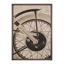 Motorcycle Wheel Photo Wall Art, Framed