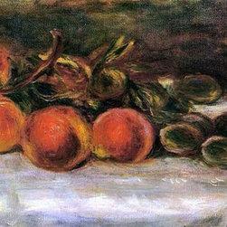 "Pierre Auguste Renoir Still Life with Peaches and Chestnuts - 14"" x 28"" Premium - 14"" x 28"" Pierre Auguste Renoir Still Life with Peaches and Chestnuts premium archival print reproduced to meet museum quality standards. Our museum quality archival prints are produced using high-precision print technology for a more accurate reproduction printed on high quality, heavyweight matte presentation paper with fade-resistant, archival inks. Our progressive business model allows us to offer works of art to you at the best wholesale pricing, significantly less than art gallery prices, affordable to all. This line of artwork is produced with extra white border space (if you choose to have it framed, for your framer to work with to frame properly or utilize a larger mat and/or frame).  We present a comprehensive collection of exceptional art reproductions byPierre Auguste Renoir."