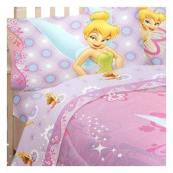 Franco Manufacturing Company Inc - Disney Fairies Tinkerbell Whimsy 4pc Full Bed Sheet Set - Features: