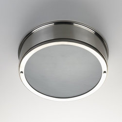 Ceiling Mounted Round Lighting - I have a really hard time finding attractive ceiling mounted lighting, this appeals for its clean lines and profile and just a touch of detail.