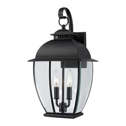 Quoizel Lighting - Quoizel Lighting BAN8409K Bain Medium Outdoor Wall Sconce With 2 Lights - For over seventy years, Quoizel lighting has been dedicated to the design and production of its diversified line of fine lighting products and home accessories.