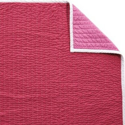 Serena & Lily - Strawberry/Juice Cabin Quilt - The best of the basics, this is the perfect warm-weather layer. The colors are great and the running contrast stitch gives it just the right amount of texture. Strawberry on one side, juice on the reverse, with white binding and contrast stitch.