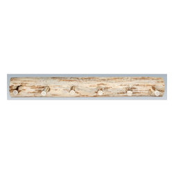 Montana Woodworks - Handcrafted Coat Rack (48 in. W x 8 in. D x 6 - Choose Size: 48 in. W x 8 in. D x 6 in. H (7 lbs.)Includes hardware. Skip peeled by hand using old fashioned draw knives. Heirloom quality. Solid lodge pole pine. Can be mounts easily to any wall. Made from U.S. solid grown wood. Lacquered finish. Made in U.S.A.. No assembly required. Warranty. Use and Care InstructionsThe log coat rack from Montana Woodworks mounts easily to most any wall. Provides a sturdy and attractive solution to the everyday problem of coats lying around the house. Each piece signed by the artisan who makes it.