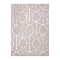 City Ashwood and Classic Gray Hand Tufted Rug 5' x 8' - Know the pleasure of a perfectly-planned floor with the Ashwood and Classic Gray area rug from the City line of splendid hand-tufted wool and silk floor treatments. A distinctive rug with textured pile for surface interest, it displays an eminently graceful pattern of supple curves and well-planned angles, timeless and sophisticated. The depth of the hand-tufting and the restrained color are utterly refined in your home.