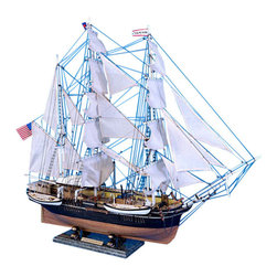 """Handcrafted Model Ships - Charles W. Morgan Limited 32"""" - Wooden Model Ship - Sold Fully Assembled Ready for Immediate Display -Not a Model Ship Kit"""