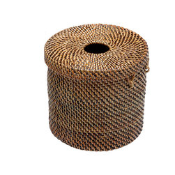 Kouboo - Toilet Paper Cover & Tissue Dispenser - Keep your spare rolls of toilet paper neatly under cover with this holder. Woven by hand, it also doubles as a tissue dispenser.