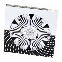 Kaleidograph Design - Kaleidograph OpArt - Kaleidograph OpArt combines elaborate black/white geometric patterns with the same die-cut cards as the Kaleidograph Flora.  Based on the style of mid-20th century modern art, this design toy has over 500 billion intricate patterns and can be combined with other Kaleidograph sets (Crystal, Flora, Contrast) for even more design possibilities. Or, test your visual skills by matching designs from  the enclosed poster.. Made in the USA, for ages 5+.