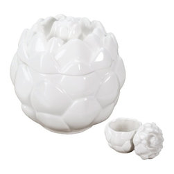 Summit - Ceramic Artichoke Round Soup Bowl Container with Fitting Lid White - This gorgeous Ceramic Artichoke Round Soup Bowl Container with Fitting Lid White has the finest details and highest quality you will find anywhere! Ceramic Artichoke Round Soup Bowl Container with Fitting Lid White is truly remarkable.