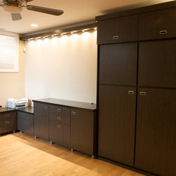 Wall Beds - Crooked Oak designed office by day, bedroom by night--uniquely designed to maximize living space.