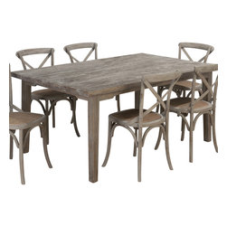 Jofran - Jofran Burnt Grey 72x42 Rectangular Leg Table w/ Fixed Top - This sensible table is a needful inclusion. Alluring aesthetics and an adaptable build make this table the perfect solution for providing both looks and utility. With such versatility, this table is a must-have addition. What's included: Dining Table (1).