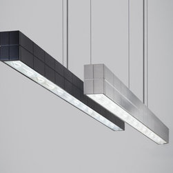Tech Lighting - Biza LED Linear Suspension Light - Geometries converge to make the seemingly complex simply beautiful.