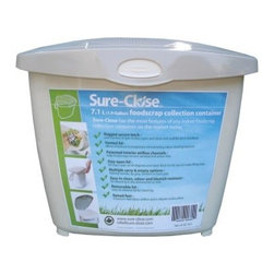 Sure-Close Kitchen Waste Collection Pail - Sometimes going green isn't about the big changes it's about small ones and the Sure-Close Kitchen Waste Collection Pail is small change for your kitchen counter that can make a world of difference. This discreet collection pail lets you collect everyday table scraps for composting. The vented lid and raised feet on the base help aid venting and airflow allowing moisture to evaporate and preventing odor-causing bacteria. The wide-mouth design lets you easily scrape plates of all sizes and the lid closes securely with a latch closure. When it's time for a proper cleaning the lid can be removed and the entire body can go right in the dishwasher. Stop using random cans bags or containers and get the right tool for the job. About Redmon CompanyFor over 120 years the W.C. Redmon Company has been supplying America with quality products for the home and family. The company's longevity however is no wonder because its business philosophy has been to strive always for magnanimity of purpose. Redmon provides quality-crafted and functional merchandise at affordable prices. Based out of Peru IN Redmon offers a variety of products for the home including bed and bath items a bongo bag collection infant and toddler supplies personal and health care items and pet supplies. Redmon is always adding new items and collections that reflect changing trends in today's lifestyles.