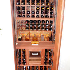 Traditional Wine Cellar by Henderson Building Group