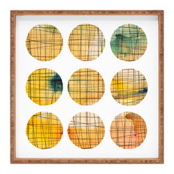 DENY Designs - Susanne Kasielke Squared Circle Square Tray - With DENY's multifunctional square tray collection, you can use it for decoration in just about any room of the house or go the traditional route to serve cocktails. Either way, you��_ll be the ever so stylish hostess with the mostess!