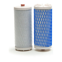 Frontgate - Aquasana Replacement Filter for Countertop Water Filter - Twin-cartridge, three-stage filtration system routes tap water through more than two million square feet of filtration material. Reduces more than 60 contaminants while leaving the healthy minerals found in water, including calcium, potassium, and magnesium.. Features Claryum filtration technology, tested and certified by NSF. Carbon filtration reduces pharmaceuticals, herbicides, pesticides, industrial solvents, and volatile organic compounds (VOCs) and removes more than 97% of chlorine and chloramines, a by-product of water disinfection that's commonly found in tap water. Ion-exchange filter removes heavy metals like lead and mercury. Enjoy on-demand, filtered water wherever you live. Our Aquasana Countertop Water Filter reduces three times more contaminants than a drip filter pitcher, and doesn't require installation, plus it's perfect for rental living.  .  .  .  .  . Sub-micron mechanical filtration reduces chlorine-resistant cysts like giardia . Choose brushed chrome, black, or white finish to coordinate with your kitchen fixtures . Filters should be replaced after six months or 500 gallons. Includes instruction manual and one-year manufacturer's warranty . Some assembly required .