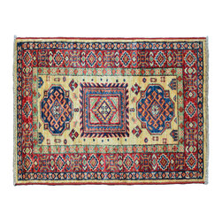 1800GetARug.com - Super Kazak 2'X3' Mat Rug, Hand Knotted 100% Wool Tribal Design Area Rug Sh11448 - Super Kazak 2'X3' Mat Rug, Hand Knotted 100% Wool Tribal Design Area Rug Sh11448