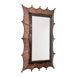 Holly & Martin - Holly & Martin Sherwood Decorative Mirror - Mirror, mirror on the wall. This oversized mirror will make your home the fairest one of all. Its hammered bronze and black frame features artistic peaks capped by small spheres and would look magnificent in your entryway or living room.