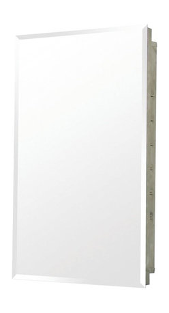 Pegasus - Recess Beveled Mirror Medicine Cabinet - SP45 - Manufacturer SKU: SP4591. Adjustable glass shelves. Recess mount. Made from stainless steel. 16 in. W x 4.5 in. D x 20 in. H (16.2 lbs.)