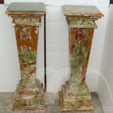 Modern Home Decor Pedestals Marble and Onyx