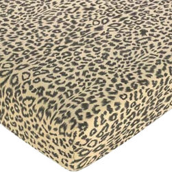 Sweet Jojo Designs - Animal Safari Print Crib and Toddler Sheet by Sweet Jojo Designs - You're never too young for fierce decor! This leopard print sheet set brings totally wild style to your toddler's room — but it's cotton, of course, to be comfy and cuddly too.