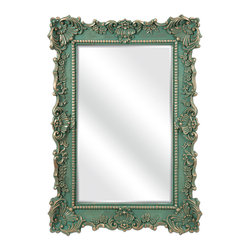Sophia Wall Mirror - The Sophia Wall Mirror is a traditional mirror that features flirty flourishes that dance around the frame. Whether you hang this classic mirror in your entryway, living room or bedroom, you'll love its elegant style -  the perfect design choice.
