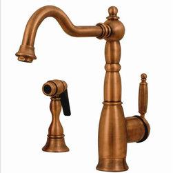 Whitehaus - Whitehaus 3-3185-Aco Lever Handle Kitchen Faucet - Essexhaus single lever handle faucet with a traditional swivel spout