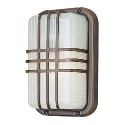 Trans Globe Lighting - Trans Globe Lighting PL-41104 RT Outdoor Bulkhead Light In Rust - Part Number: PL-41104 RT