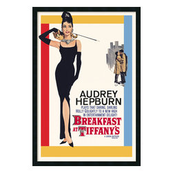 "Amanti Art - 'Audrey Hepburn, Breakfast at Tiffany's' Framed Poster With Gel Coated Finish - If you love Old Hollywood glamour, this poster from ""Breakfast at Tiffany's"" is a must-have. In the film, Audrey Hepburn plays Holly Golightly, a society gal with a mysterious past who forms a friendship with her neighbor Paul, a writer. Framed and ready for your wall. Made in the USA."