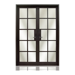 Iron Collection | 2686 - Iron, Hardware: 2.- Flush Bolts with Extension Arms, 2.- Roller Catches, Hinges: 6.- Heavy Duty Hinges,  Exterior Door