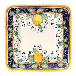 Ceramic - Italian Lemons Square Platter - Italian Lemons Square Platter