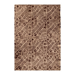 """MAT Orange Labyrinth Beige Brown Rug - 5'2""""x7'6"""" - The rugs in this collection are all inspired by urban lanandscapes, making way for a statement where texture, shape, and line are the form. The rug's texture and the marriage of colors speak to the contemporary room. """"It is the art piece on the floor.  Because of the artistic quality ofThe rugs they are easily used in modern as well as traditional interiors. Pile Height:0.  Inches"""