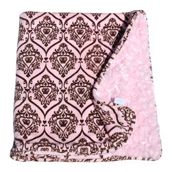 Paisley/Light Pink Baby Blanket - This throw blanket is supremely soft and cozy while its two-tone color scheme keeps it looking elegant and sophisticated in any nursery. Buy this blanket for your baby or give as a shower gift to expectant parents. They'll be sure to love and cherish it for years.