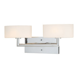 Vaxcel - Allerton Chrome 2 Light Vanity - Vaxcel W0002 Allerton Chrome 2 Light Vanity