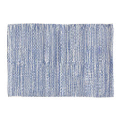 """Pine Cone Hill - PCH Mingled Denim Placemat Set of 4 - Perk up the table with the versatile Mingled placemats in denim blue by PCH. Designed for indoor and outdoor use, layer these easy-care table mats with other colors and patterns to create a variety of looks. 20""""H x 14""""W; Set of 4; 100% polypropylene; Designed by Pine Cone Hill, an Annie Selke company; Machine wash, line dry"""