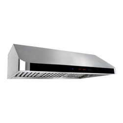 GOLDEN VANTAGE - GV 36-Inch Stainless Steel Under Cabinet Range Hood W/Baffle Filter Touch Panel - Our Contemporary Europe design range hoods capture the most pollutants, grease, fumes, cooking odors in a quiet way but maintain a strong CFM From 300-900 depends on the style or model you choose. GV products not only provide top notch quality of material, we also offer led lighting, quite chamber blower,adjustable telescopic chimney. All of our range hoods can convert to ventless/ductless options if outside exhaust not permitted.    Features:
