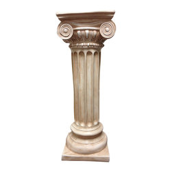 Casa de Arti - Classic Greek Ionic Pillar with Platform Pedestal Column Home Decor - Amazing Ionic style column perfect for your home or office decor at an amazing price!