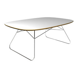 OFFI - Nest Play Table - Designed by Scott Wilson, part of the OFFI Nest Collection. The play table will arrive assembled atop a chrome base.