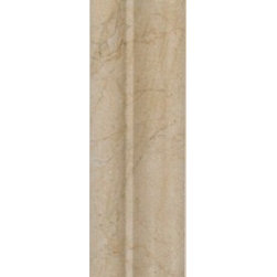 """Mission Stone Tile - Crema Marfil Marble - Grand Molding Chair Rail 2"""" x 12"""" Polished - Rich cream and beige veins thread effortlessly through the heart of the Spanish marble, encapsulating the true splendor of this timeless natural product. The finely polished finish with its precision cut sizes and shapes add a statement of beauty, tranquility and individuality."""