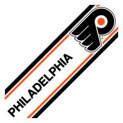 Trademarx Wall Decor - NHL Philadelphia Flyers Self-Stick Hockey Wall Border Roll - Features: