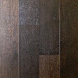 "TEKA PARQUET - French Oak Vintage Noir Engineered Floating Wood Floor- Sample 8"" x 6 - This listing is for 1 piece of wood floor samples (8"" x 6"")"