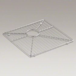 """KOHLER - KOHLER Stainless steel sink rack, 16-15/16"""" x 15-15/16"""" for Vault(TM) K-3823 and - Ensure the long-lasting beauty of your Vault sink with this sink rack. Designed to conveniently fit the left bowl, this rack helps safeguard your fragile dishes and protects the sink's stainless-steel surface."""