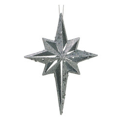Silk Plants Direct - Silk Plants Direct Glitter Northern Star Ornament (Pack of 24) - Silver - Pack of 24. Silk Plants Direct specializes in manufacturing, design and supply of the most life-like, premium quality artificial plants, trees, flowers, arrangements, topiaries and containers for home, office and commercial use. Our Glitter Northern Star Ornament includes the following: