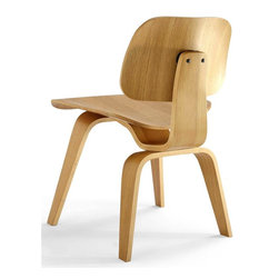 Aeon Furniture - Richmond White Oak Plywood Chair - Layered Bent Plywood Side Chair. White Oak Vener. Inspired by a Mid-Century Modern Classic . No Assembly Required. 22.25 in. L x 19.75 in. W x 28.75 in. H (20 lbs.)White Oak plywood chair with wood legs created from layered bent hardwood The Richmond Chair is part of Aeon's Modern Classics Collection.  Aeon Furniture works with only the highest quality manufacturers providing superior craftsmanship with close attention to detail.  Our pieces are sure to meet your design needs.