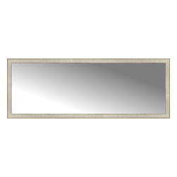 """Posters 2 Prints, LLC - 71"""" x 26"""" Libretto Antique Silver Custom Framed Mirror - 71"""" x 26"""" Custom Framed Mirror made by Posters 2 Prints. Standard glass with unrivaled selection of crafted mirror frames.  Protected with category II safety backing to keep glass fragments together should the mirror be accidentally broken.  Safe arrival guaranteed.  Made in the United States of America"""