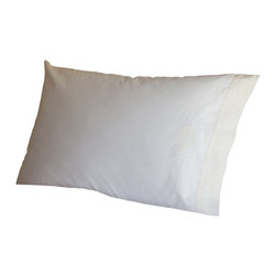 Taylor Linens - Sweet Dreams White & Cream Pillowcase - Forget counting sheep. You will rest easy on this creamy, dreamy pillowcase. It's made from 100 percent white cotton percale and features a sweet embroidered detail and soft ivory border for extra luxury.