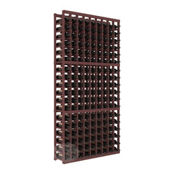 9 Column Standard Cellar Kit in Pine with Walnut Stain - A 9 column solution from our most popular style of wine racking. Completely solid assembly to withstand extensive use. We guarantee it. All the edges of our products are softened to ensure you won't get nicks or splinters, like you will from budget brands. You'll be satisfied. We guarantee that, too.